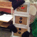 Picture Frame Snowman Craft