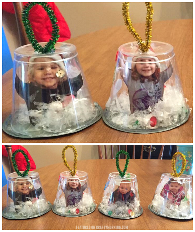 Snow globe cup ornaments crafty morning for Holiday project