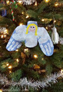 DIY Angel Handprint Craft For Kids