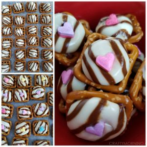 Pretzel Hugs Valentine Treats