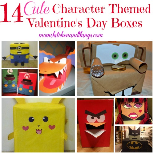 14 Cute Character Themed Valentines Day Boxes Crafty
