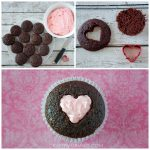 Valentine Heart Cut-Out Cupcakes