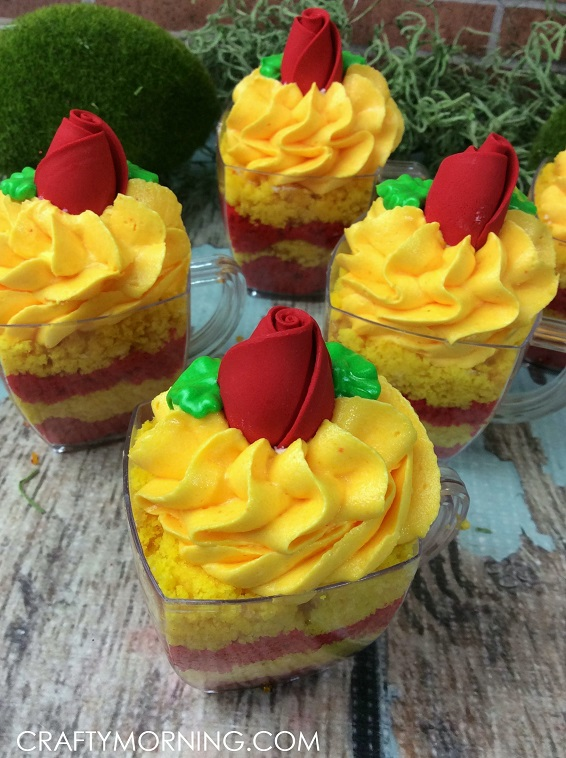 Beauty and the beast tea cakes