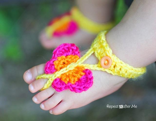 Buttefly-crochet-Sandals