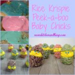 Rice Krispie Peek-a-boo Baby Chicks