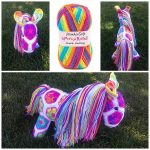 African Flower Unicorn Crochet Pattern