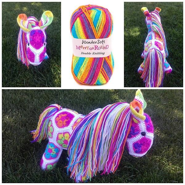 African Flower Unicorn Crochet Pattern - Crafty Morning