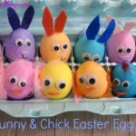 DIY Bunny & Chick Easter Egg Craft