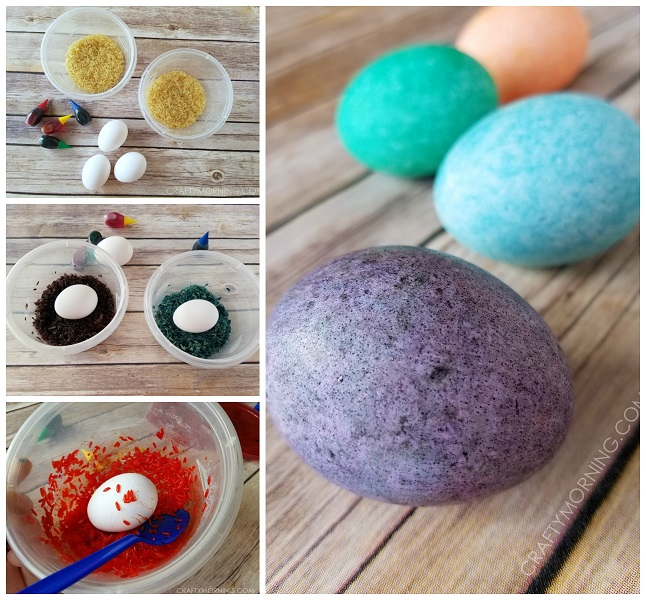 Rice shake easter egg decorating crafty morning forumfinder