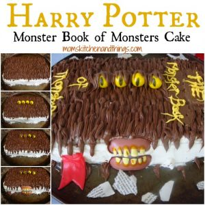 Harry Potter Monster Book of Monsters Cake