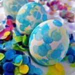 Confetti Tissue Paper Easter Eggs