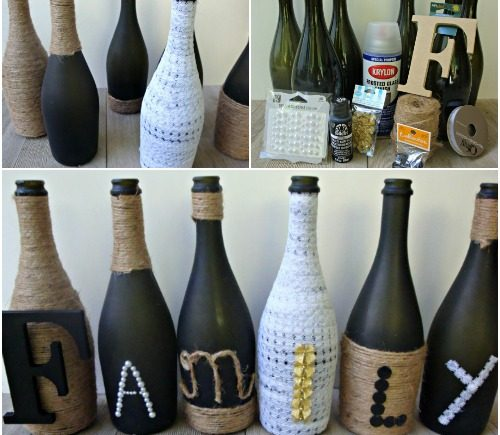DIY Wine Bottle Craft Crafty Morning Awesome How To Decorate A Wine Bottle