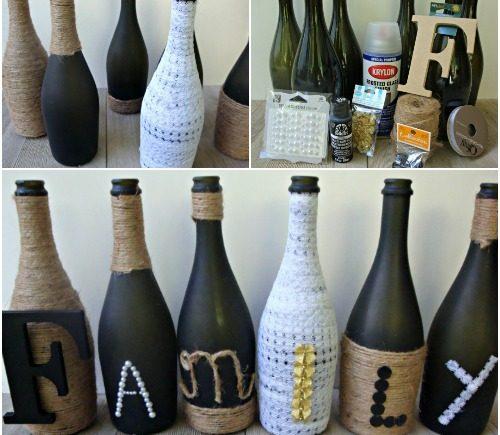 Diy wine bottle craft crafty morning for Bottle craft