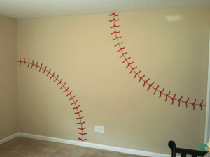 DIY Baseball Wall Idea