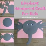 Elephant Handprint Craft For Kids