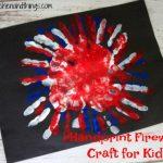 Handprint Firework Craft for Kids