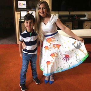 Student Decorated Teacher Dress