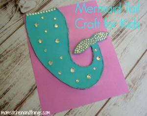 Mermaid Tail Craft for Kids