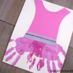 Ballerina Dress Handprint Craft