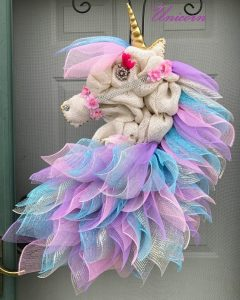 Burlap Unicorn Wreath