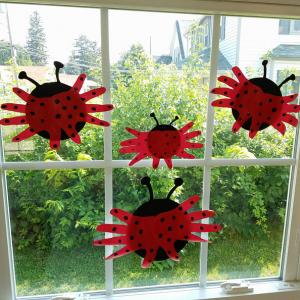 Hand Print Ladybugs Craft