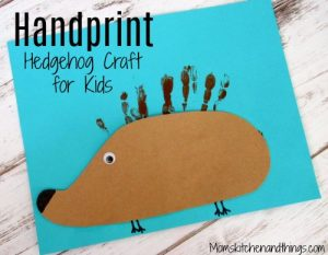 Handprint Hedgehog Craft for Kids