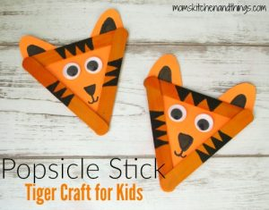 Popsicle Stick Tiger Craft for Kids