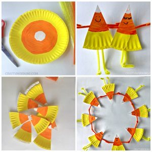 Paper Plate Candy Corn Buddies Craft