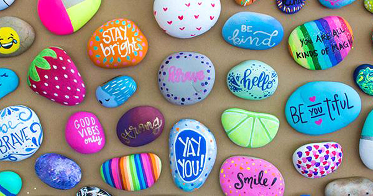make your own kindness rocks for free at michaels
