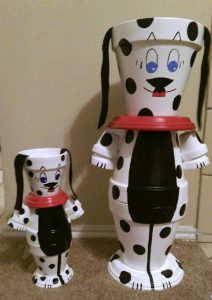 Clay Pot Puppy Dogs