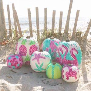 Coastal Pumpkin Decorating