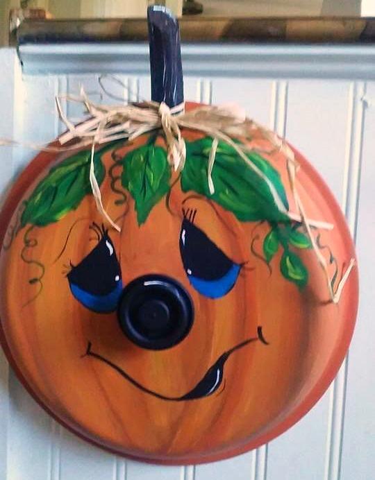 Pot Lid Pumpkin Craft Crafty Morning