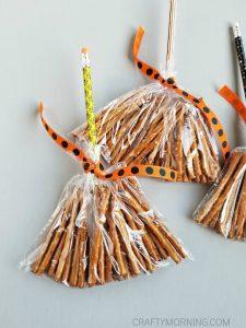 Pretzel Witch Broom Stick Treats