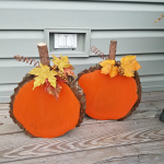 Wood Slice Pumpkins