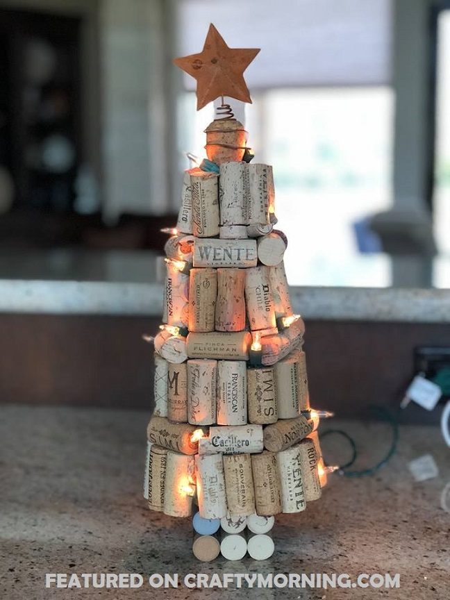 these gorgeous wine cork christmas trees were made by liz bramhall childres heres her tutorial she shared with us
