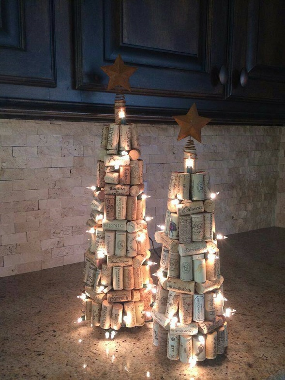 Wine Cork Christmas Trees Crafty Morning