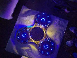 DIY Lighted Fidget Spinner Costume