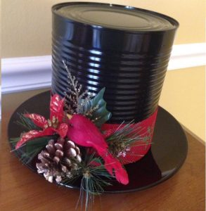 Make Frosty the Snowman's Hat from a Can