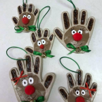 Handprint Clay Reindeer Ornaments