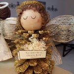 Pinecone Christmas Angel Craft