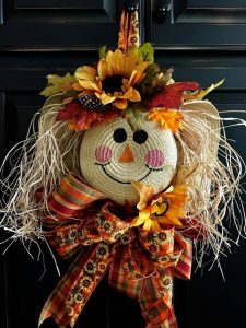 Straw Hat Scarecrow