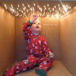 Christmas Light Cardboard Box