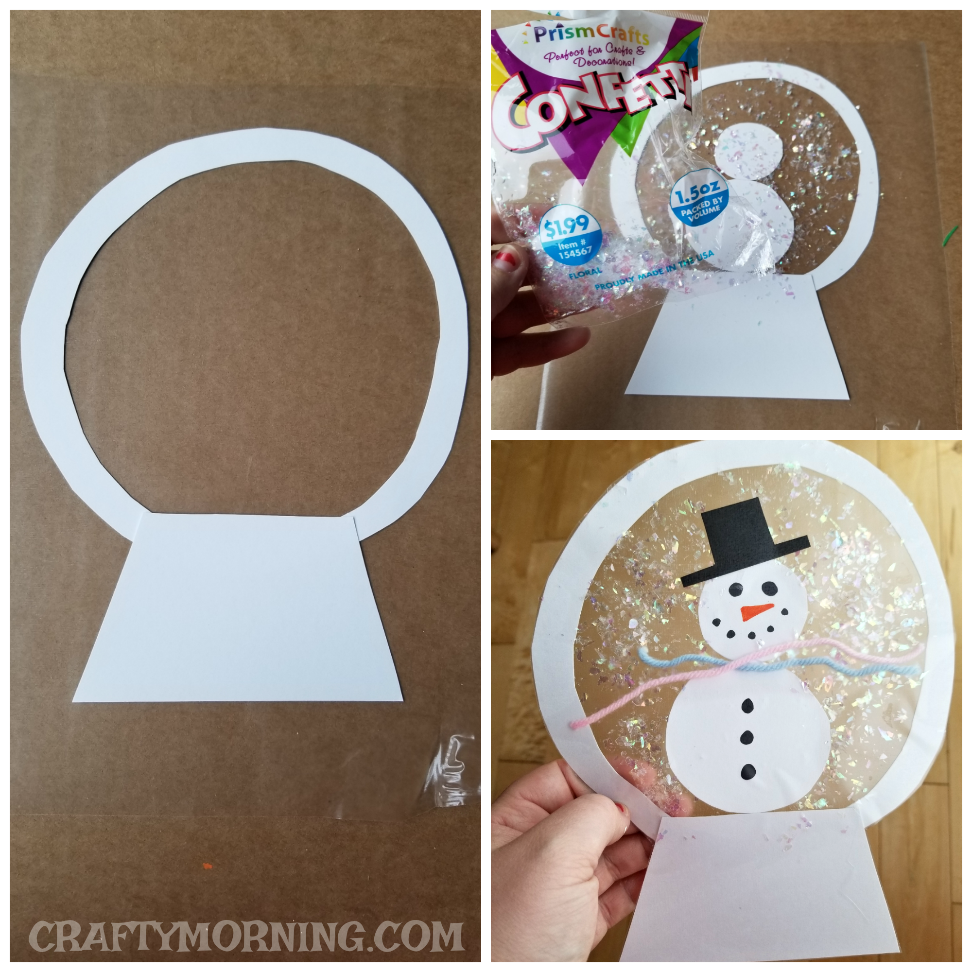Contact Paper Snowglobe Craft Crafty Morning