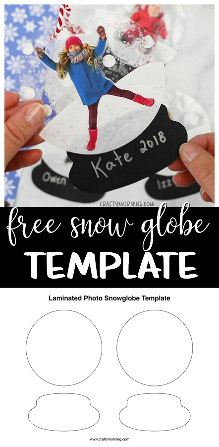free laminated snow globe template crafty morning