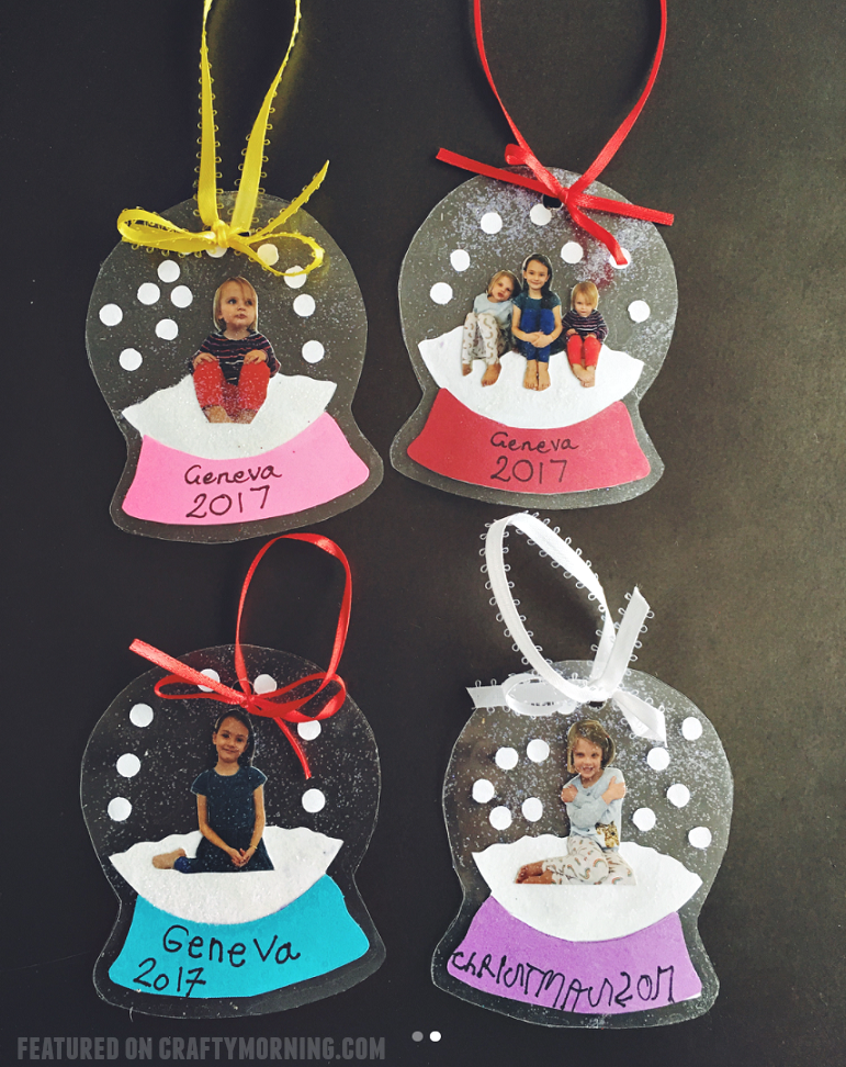 Laminated Photo Snowglobe Ornaments My Decor Home