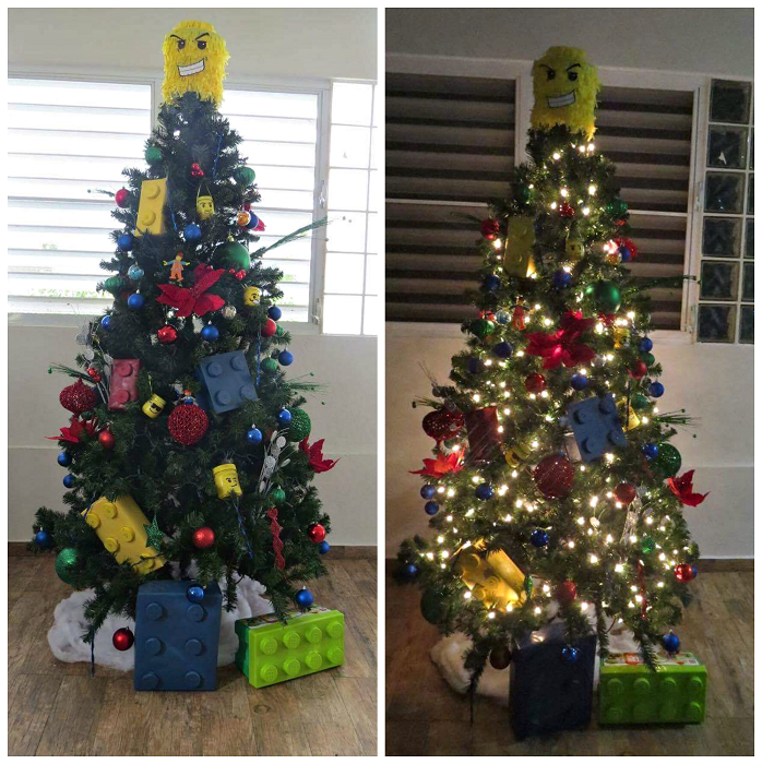 DIY Lego Themed Christmas Tree