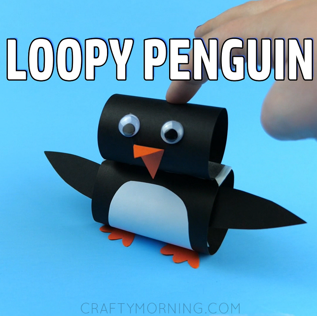 Loopy Paper Penguin Craft