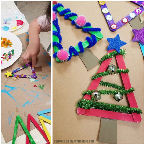 Popsicle Stick Christmas Tree Craft