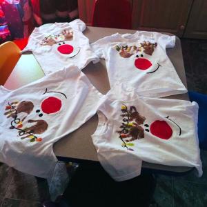 Handprint Reindeer T-Shirts for Kids