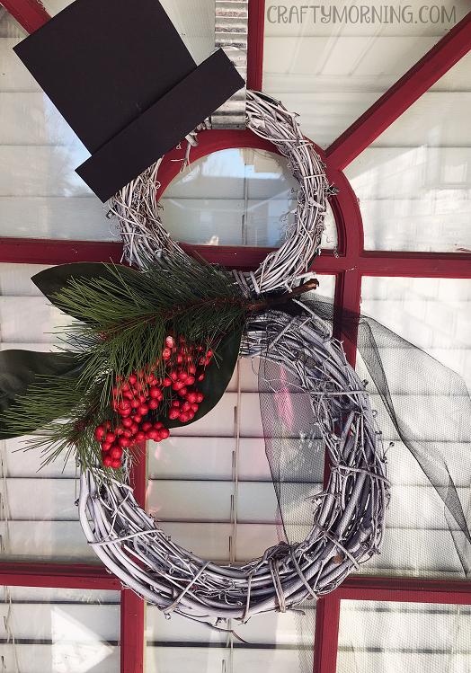 Snowman Grapevine Door Hanger Crafty Morning
